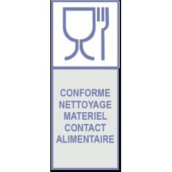 Conforme nettoyage matériel contact alimentaire